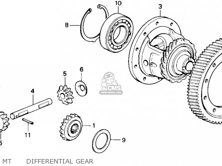 Honda Accord 1986 3dr Lxi Non-passive ka Mt      Differential Gear