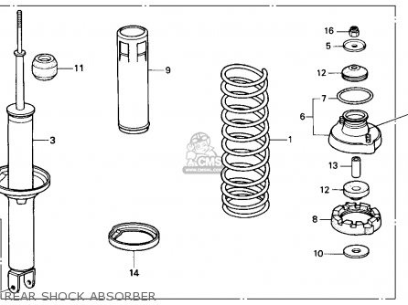 Honda Accord 1986 3dr Lxi Non-passive ka Rear Shock Absorber