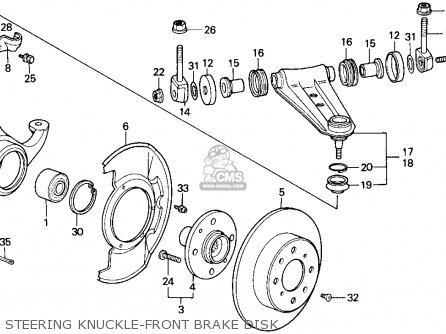 Honda Accord 1986 3dr Lxi Non-passive ka Steering Knuckle-front Brake Disk