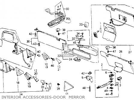 honda accord 1986 g 3dr lxi non passive ka parts lists and 1994 Honda Accord Electrical Diagram interior accessories door mirror