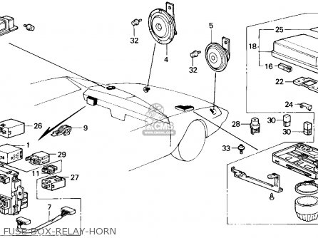 90 honda accord fuse box diagram honda accord 1986 (g) 4dr lx (ka,kl) parts lists and ... 1986 honda accord fuse box diagram