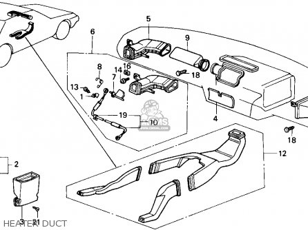 honda accord 1986  g  4dr lxi  ka  parts list partsmanual
