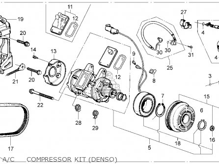 Denso Alternator Honda Accord Parts Diagram