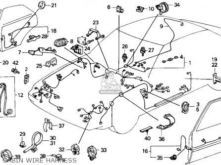 honda accord 1988 (j) 4dr lxi (ka) parts list partsmanual ... honda accord alternator wiring diagram