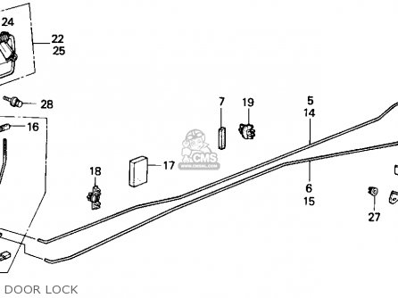 honda accord 1989 3dr lxi  ka kl  parts list partsmanual