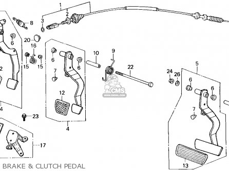 Honda Civic Brake Caliper Diagram