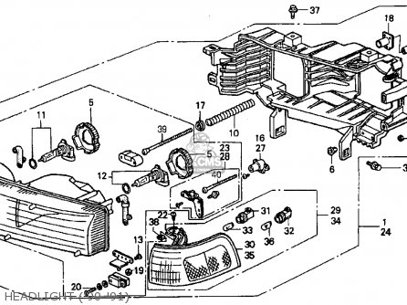 97 Accord Headlight Wiring Diagram on 97 honda civic stereo wiring harness