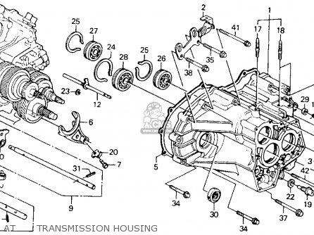 Honda Accord 1990 L 2dr Ex Kakl Parts Lists And Schematics