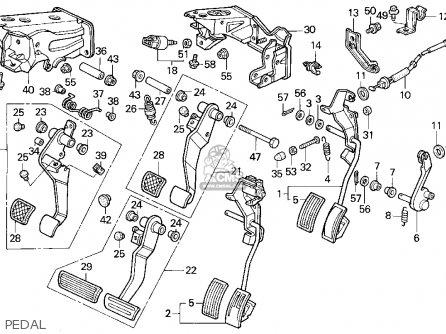 Honda Accord L Dr Ex Ka Kl Pedal Medium B Edf