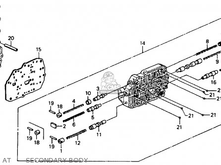 Honda Accord 1990 L 4dr Dx Kakl Parts Lists And Schematics