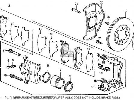 Honda Accord 1990 L 4dr Ex Kakl Parts Lists And Schematics
