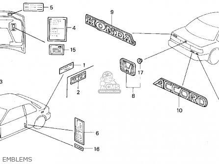 Honda Accord 1992 N 2dr Ex Ka Kl Parts Lists And Schematics