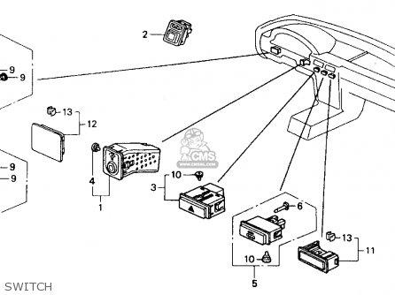Honda Accord 1992 N 2dr Ex Kakl Parts Lists And Schematics