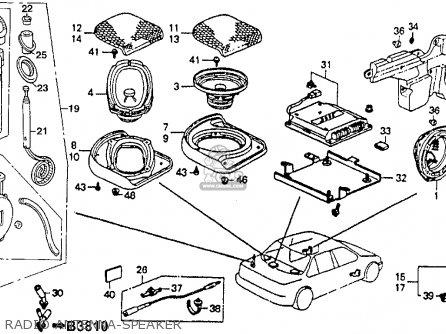 1992 Honda Accord Speaker Diagram