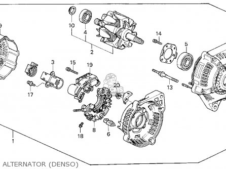 denso alternator honda accord parts diagram  honda  auto