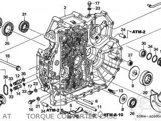 Honda Accord Hybrid 2005 5 4dr Ka At Torque Converter Case