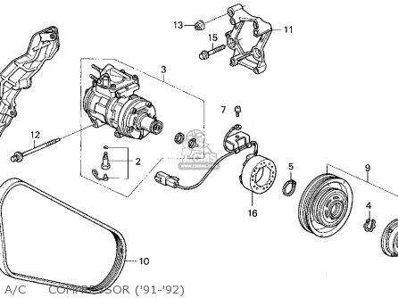 Honda Accord Wagon Wgn Lx Ka Kl Ac Compressor Medium B D