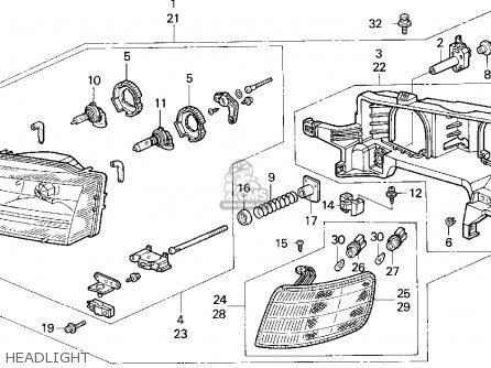 honda accord wagon 1995 s wgn lx ka kl parts list. Black Bedroom Furniture Sets. Home Design Ideas