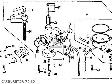 Honda Atc110 1982 c Usa Carburetor 79-83
