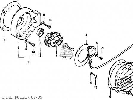 Honda Atc110 1982 c Usa C d i  Pulser 81-85