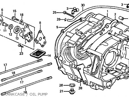 Honda Atc110 1982 c Usa Crankcase   Oil Pump