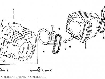 Honda Atc110 1982 c Usa Cylinder Head   Cylinder