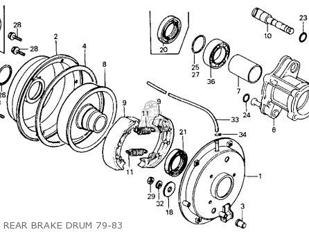Honda Atc110 1982 c Usa Rear Brake Drum 79-83