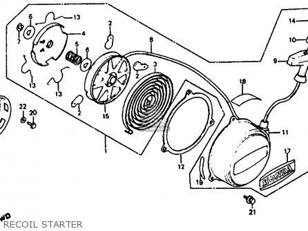 Honda Atc110 1982 c Usa Recoil Starter