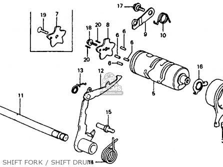 Honda Atc110 1982 c Usa Shift Fork   Shift Drum