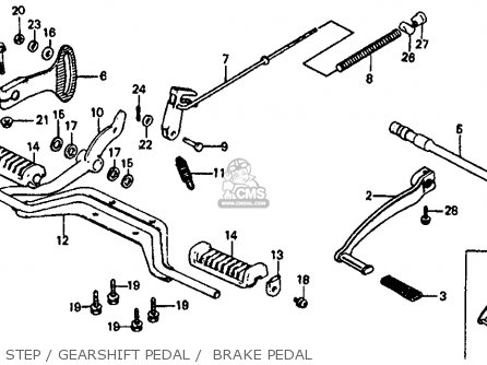 Honda Atc110 1982 c Usa Step   Gearshift Pedal    Brake Pedal