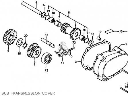 Honda Atc110 1982 c Usa Sub Transmission Cover