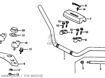 Honda Atc110 1982 Usa Handlebar   Top Bridge