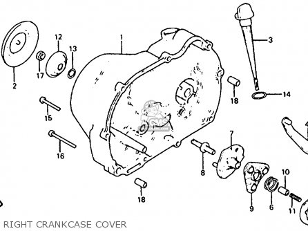 Honda Atc110 1982 Usa Right Crankcase Cover
