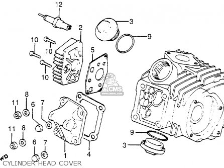 Honda Atc125m 1984 Usa Cylinder Head Cover