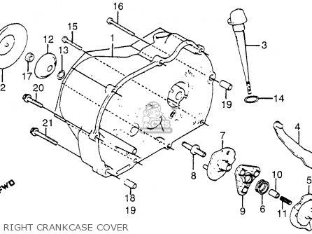 Honda Atc125m 1984 Usa Right Crankcase Cover