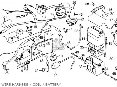 Honda Atc125m 1984 Usa Wire Harness   Coil   Battery