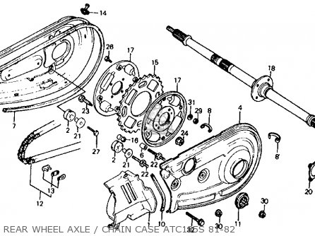 [SCHEMATICS_48DE]  Honda ATC185S 1981 (B) USA parts lists and schematics   Honda 185s Engine Diagram      Cmsnl.com