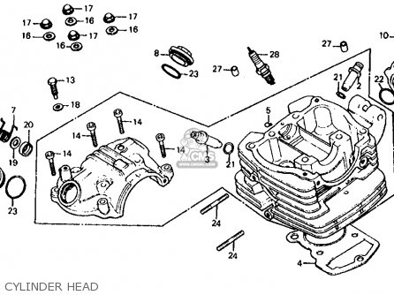 Honda Atc185s 1983 d Usa Cylinder Head