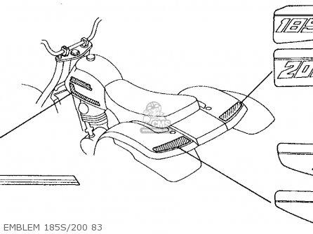 Honda Atc185s 1983 d Usa Emblem 185s 200 83
