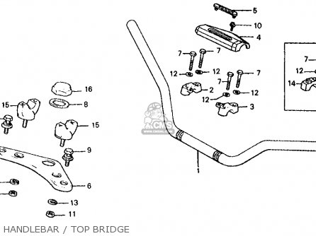 Honda Atc185s 1983 d Usa Handlebar   Top Bridge