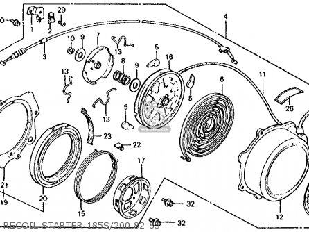 Honda Atc185s 1983 d Usa Recoil Starter 185s 200 82-83