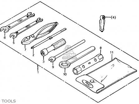 Honda Atc185s 1983 d Usa Tools