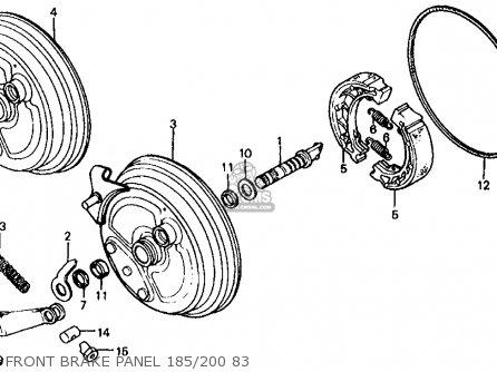 Honda Atc185s 1983 Usa Front Brake Panel 185 200 83