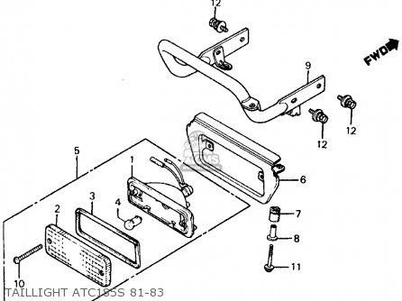 Honda Atc185s 1983 Usa Taillight Atc185s 81-83
