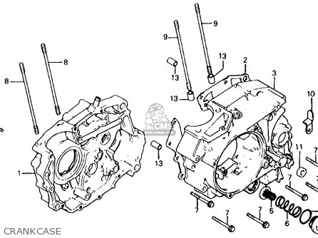Honda Cb750 Carburetor Vacuum Diagram besides Honda Gcv160 Engine Schematic furthermore Honda Xr80 Carb Diagram in addition Honda Recon 250 Atv Engine Diagram likewise Partslist. on honda 185s engine diagram