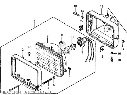 honda atc200 1981 b usa parts lists and schematics. Black Bedroom Furniture Sets. Home Design Ideas