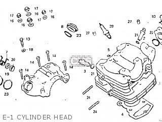 honda atc200e 1984 (e) parts lists and schematicse 1 cylinder head