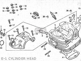 honda atc200es 1984 (e) canada parts lists and schematicse 1 cylinder head