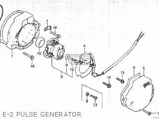 honda atc200es 1984 (e) canada parts lists and schematicse 2 pulse generator