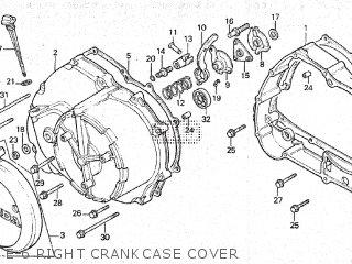 honda atc200es 1984 (e) canada parts lists and schematicse 6 right crankcase cover
